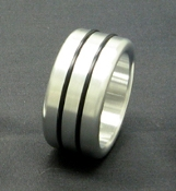 Head / Shaft (Glans) Ring Double Accent Band