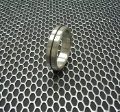 "Designer Series Stainless Steel Cockring ""Single Accent Band"""