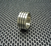 "Designer Series Stainless Steel Cockring ""Triple Accent Band"""