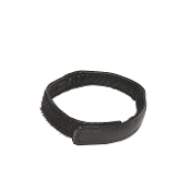 Velcro Black Leather Cockring Cock Strap