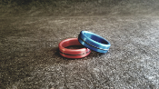 Anodized Head / Shaft (Glans) Ring Single Accent Band