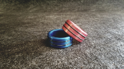 Anodized Head / Shaft (Glans) Ring Double Accent Band